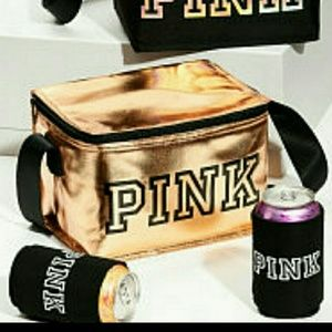 Brand new VS Pink Cooler & coozie